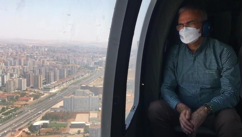 Diyarbakır Valisi Karaloğlu, denetimleri havadan inceledi