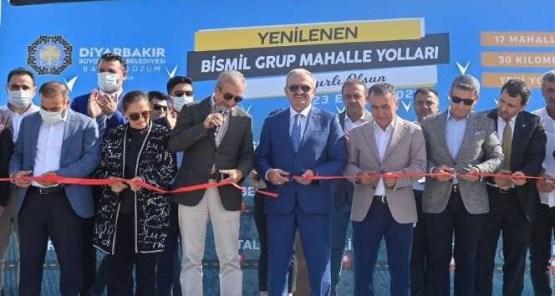 Diyarbakır'ın hızla büyüyen ilçesinde grup yolu açılışı