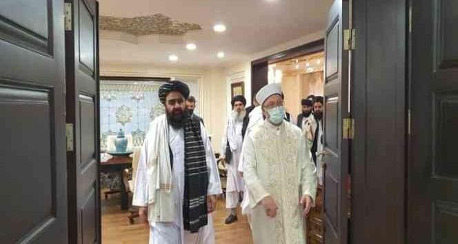 Diyanet İşleri Başkanı Erbaş, Taliban heyetini ağırladı