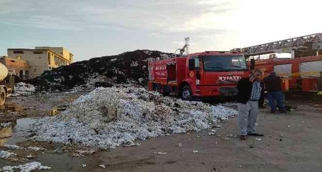 Bismil'de pamuk fabrikasında yangın: , 2,5 ton pamuk kül oldu