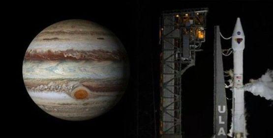 NASA, 12 yıl sürecek görev için uzay aracını Jüpiter'e gönderdi
