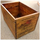 Collectable Mobil Oil Wood Crate