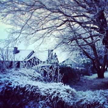 Snow scene in Oughterard