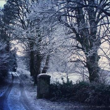 snow in Connemara