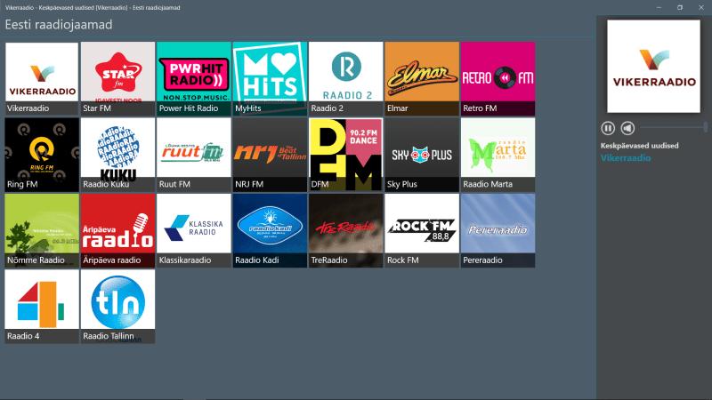 Eesti Raadiojaamad (rakendus) reklaamist vabaks