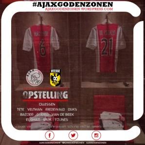 OPSTELLING Ajax-Vitesse