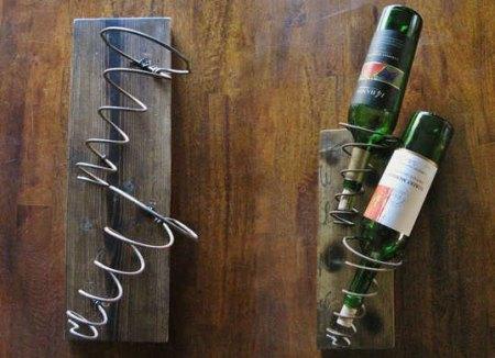 coil spring wine rack