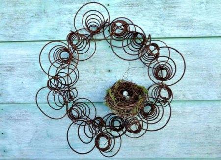 coil spring wreath