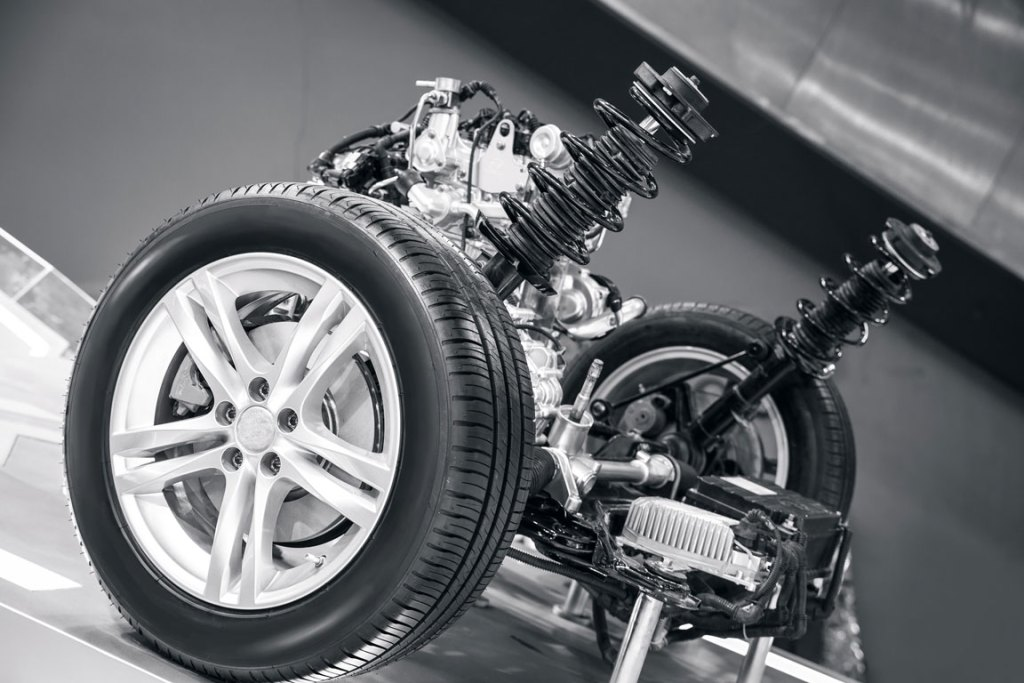 Car suspension system with springs