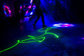 Laser light in the dance floor