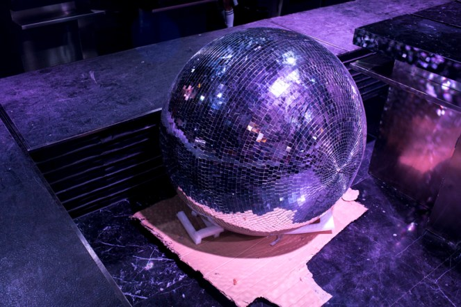 A disco ball in a clab