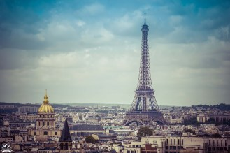 The Eiffel tower is much taller in the skyline than you think.