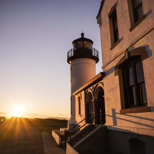 Admiralty Head Lighthouse, built in 1861 (rebuilt in 1903), Whidbey Island, Washington.