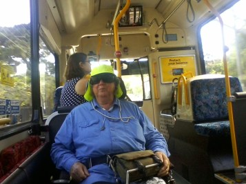 on a 376 Bus - one of the first accessible ones