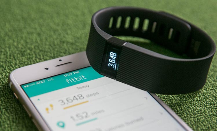 You can also sync your Fitbit Charge up with your smart phone. Fitbit Charge HR Wireless Activity Wristband Review