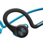 The Plantronics BackBeat Fit headphones come in bllue, green, and red.