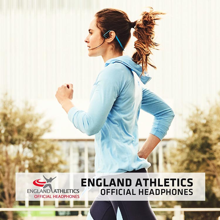 Safest headphones for runners. The Aftershokz Trekz Titanium Bluetooth open ear bone conduction earphones are the official headphones of England Athletics