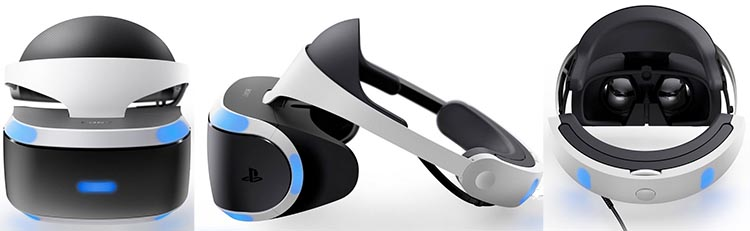 The Sony PlayStation VR was voted top invention of 2016 by Time magazine. It's also the best looking by far of all the VR headsets that have so far been produced. Here it is from three different angles