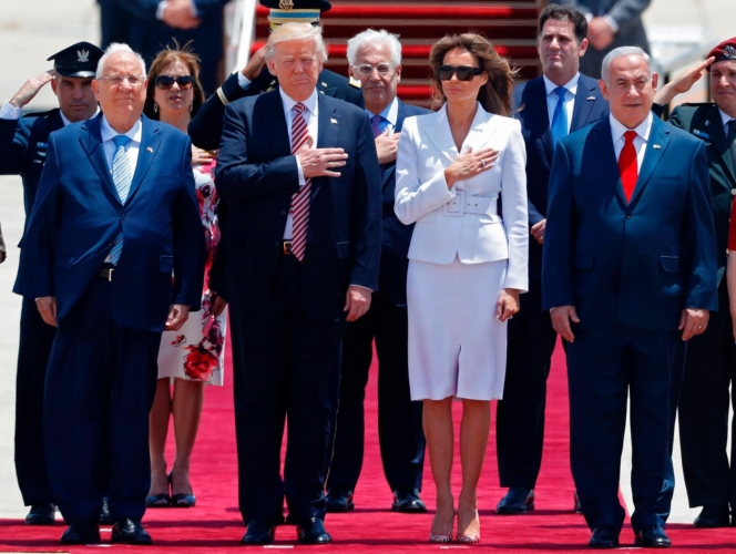 Trump declares 'rare opportunity' for peace as overseas tour stops in Israel