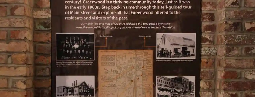 Exhibit welcome board at The Museum of Greenwood, SC