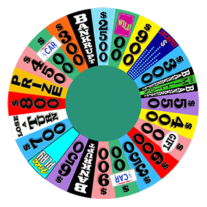 Layout of the Wheel of Fortune from Season 30, courtesy of Germanname1990 on Wikipedia