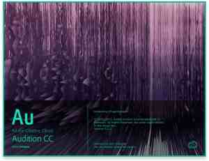Adobe Audition CC 2015 Release Splash Screen