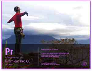 Adobe Premiere Pro CC 2015 Release Splash Screen
