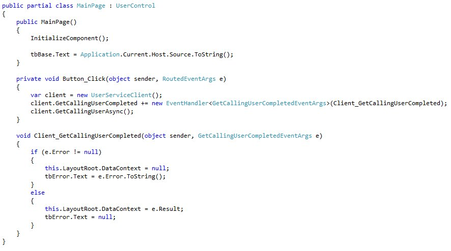Silverlight and Integrated Authentication (3/6)