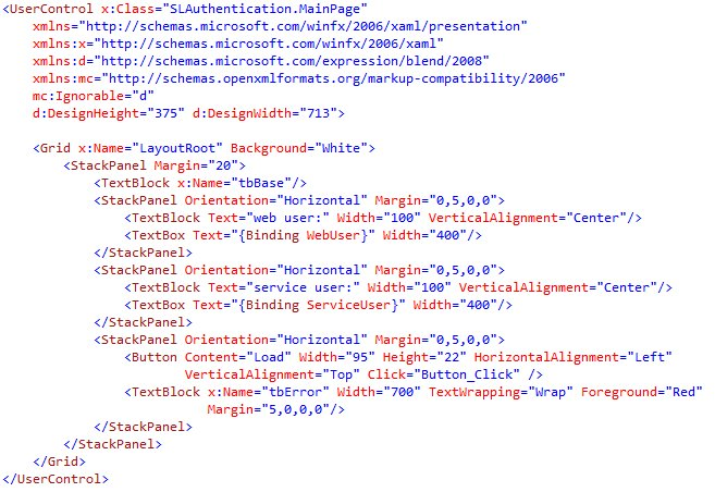 Silverlight and Integrated Authentication (4/6)