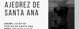 Cartel del Torneo de Ajedrez de Santa Ana 2018