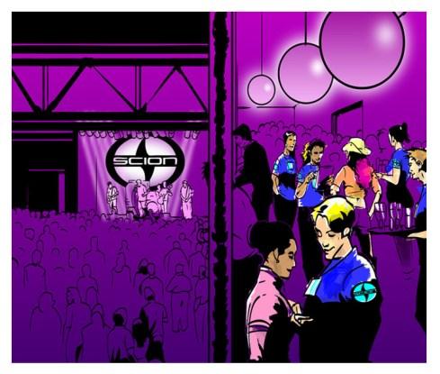 Scion special event concept art