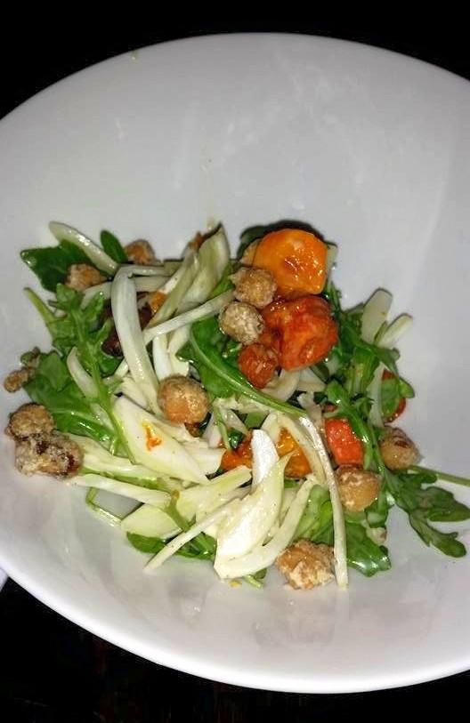 arugula squash fennel salad 1