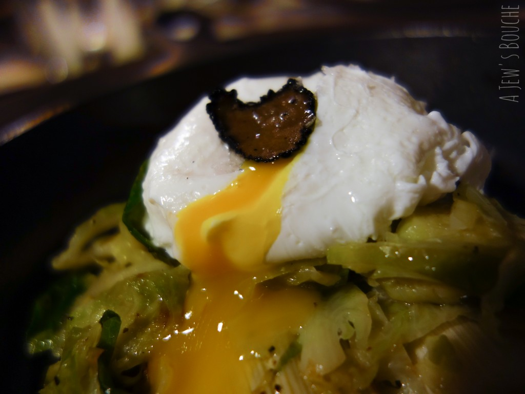 Sign of the times: oozing yolk money shot. It was perfectly cooked.
