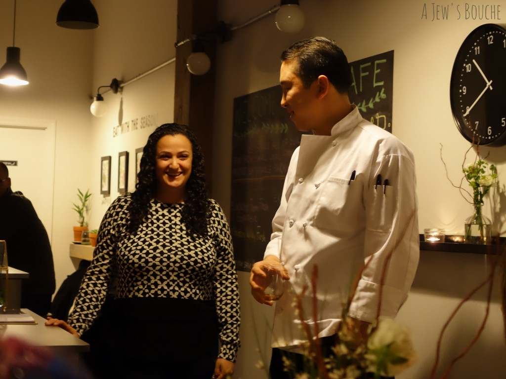 Pastry chef Liza Miller-Price and Executive Chef Michael McCabe.