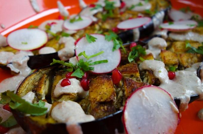 roasted eggplant w silan techina KBD Brings it Home 3 AJB-1