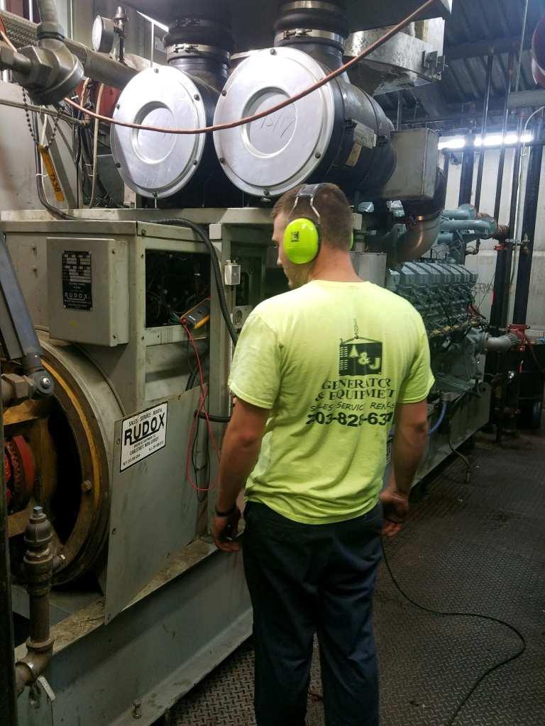 commercial generator repairman