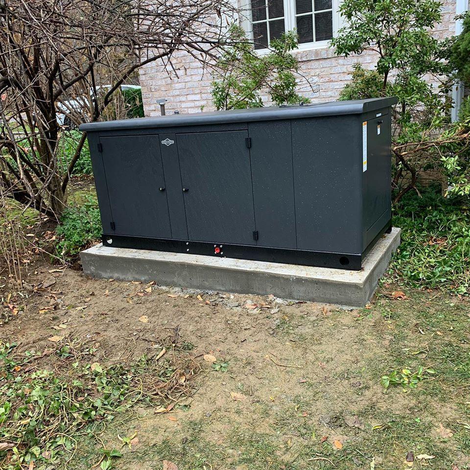 Backyard generator installation