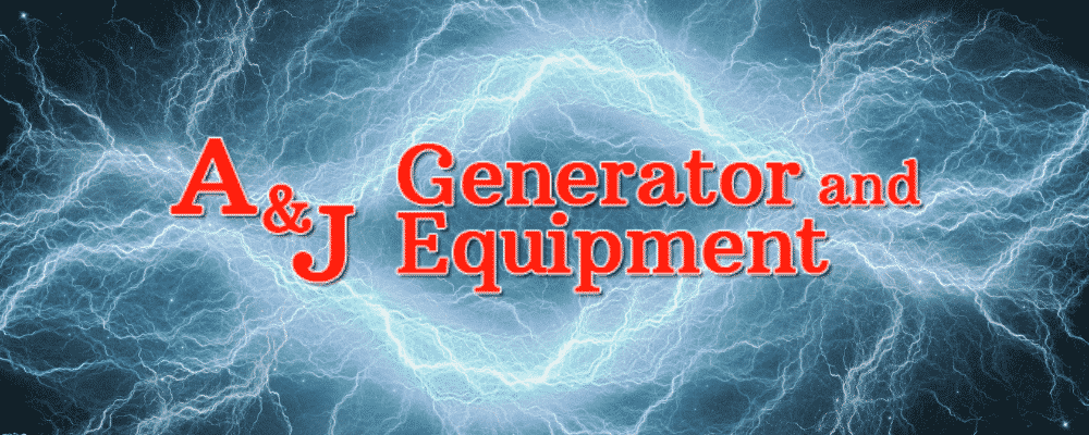 A&J Generator Logo with Electricity