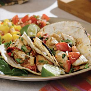 Chicken Tacos with Charred Tomatos