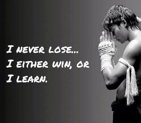 I never lose…