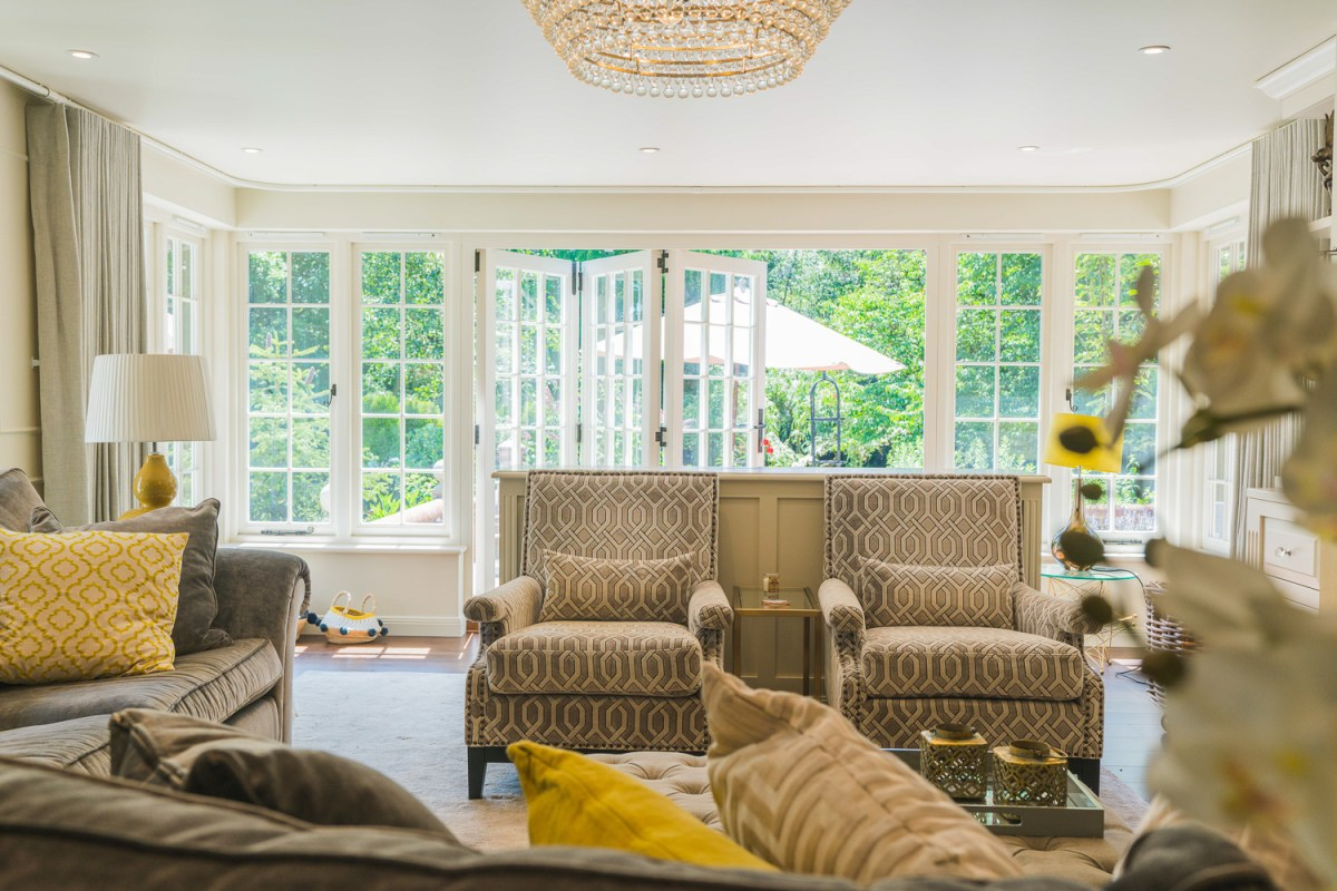 Living room renovation by AJ Hammond in East Sussex with bi-fold doors