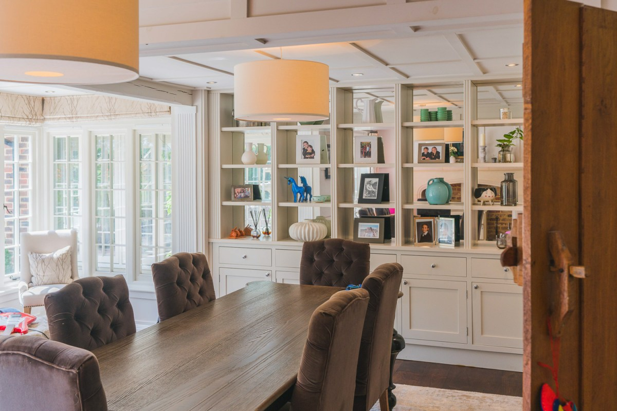 Family dining room renovation by AJ Hammond Builders in East Sussex