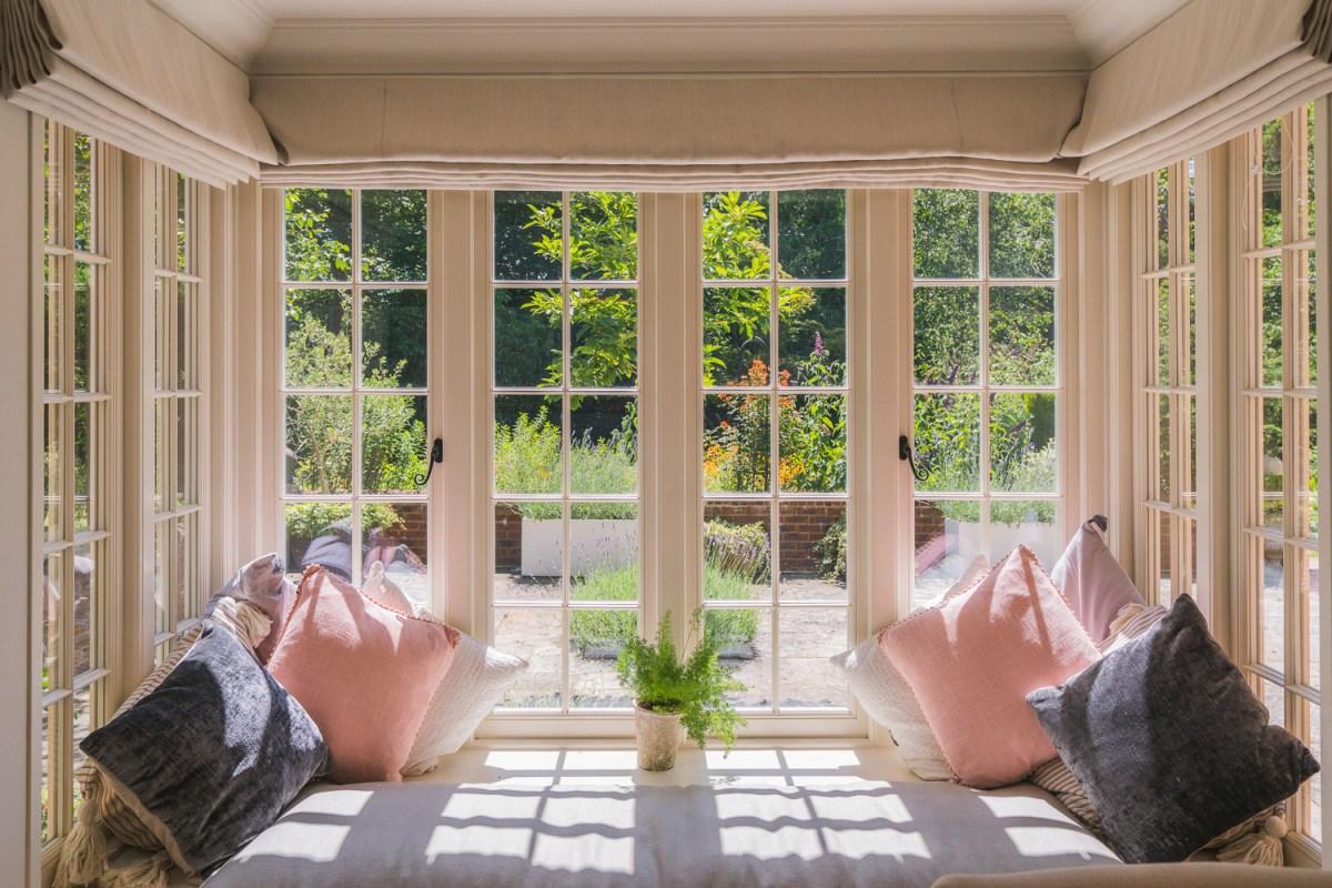 Window view of a house renovation in Heathfield, East Sussex