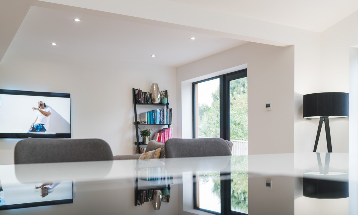 Kitchen and living room house remodelling and home extension built by AJ Hammond Builders in Bexhill On Sea, East Sussex