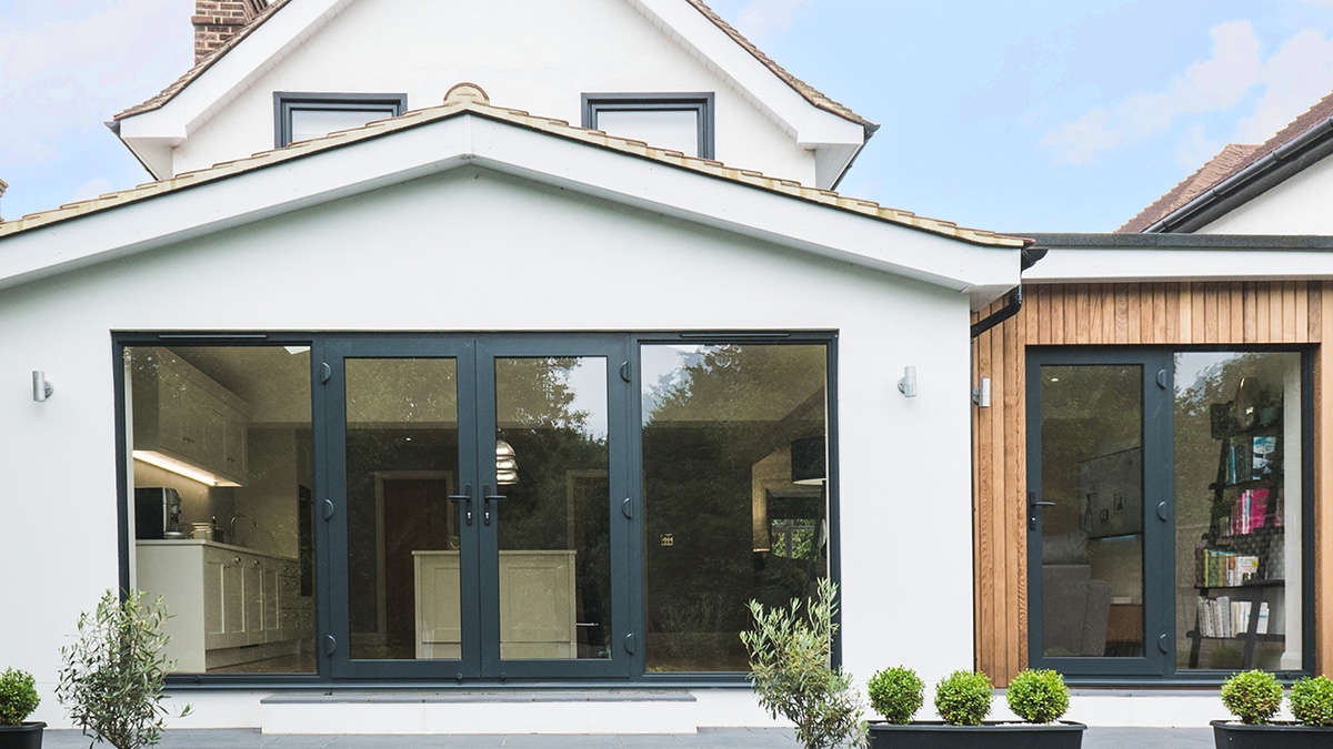 Rear house extension in Bexhill-On-Sea after renovation