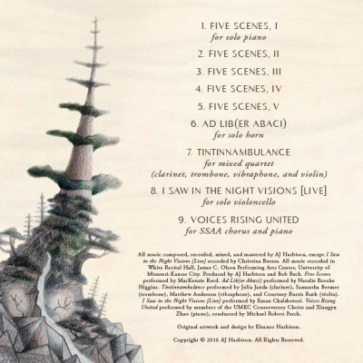 Scenes and Visions: Concert Music of AJ Harbison Back Cover
