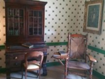 Polk's office, writing chair and law books