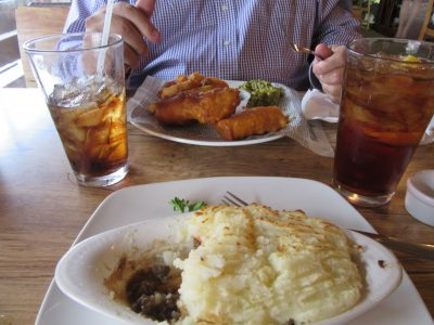 Fish & Chips w/peas; Shepherd's Pie