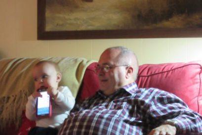 Papa Dude's phone tastes great!
