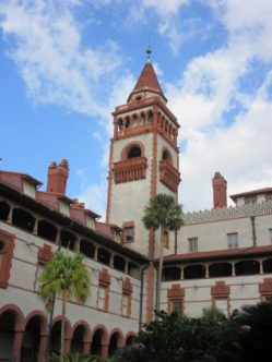 Flagler College from inside courtyard